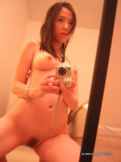 Self shot and hot Korean mirror girl.